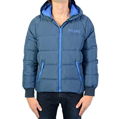 Pepe Jeans - Doudoune imperméable à Capuche Bleu Ocean ado garçon   Amazon.fr  Vêtements et accessoires 516720723d87