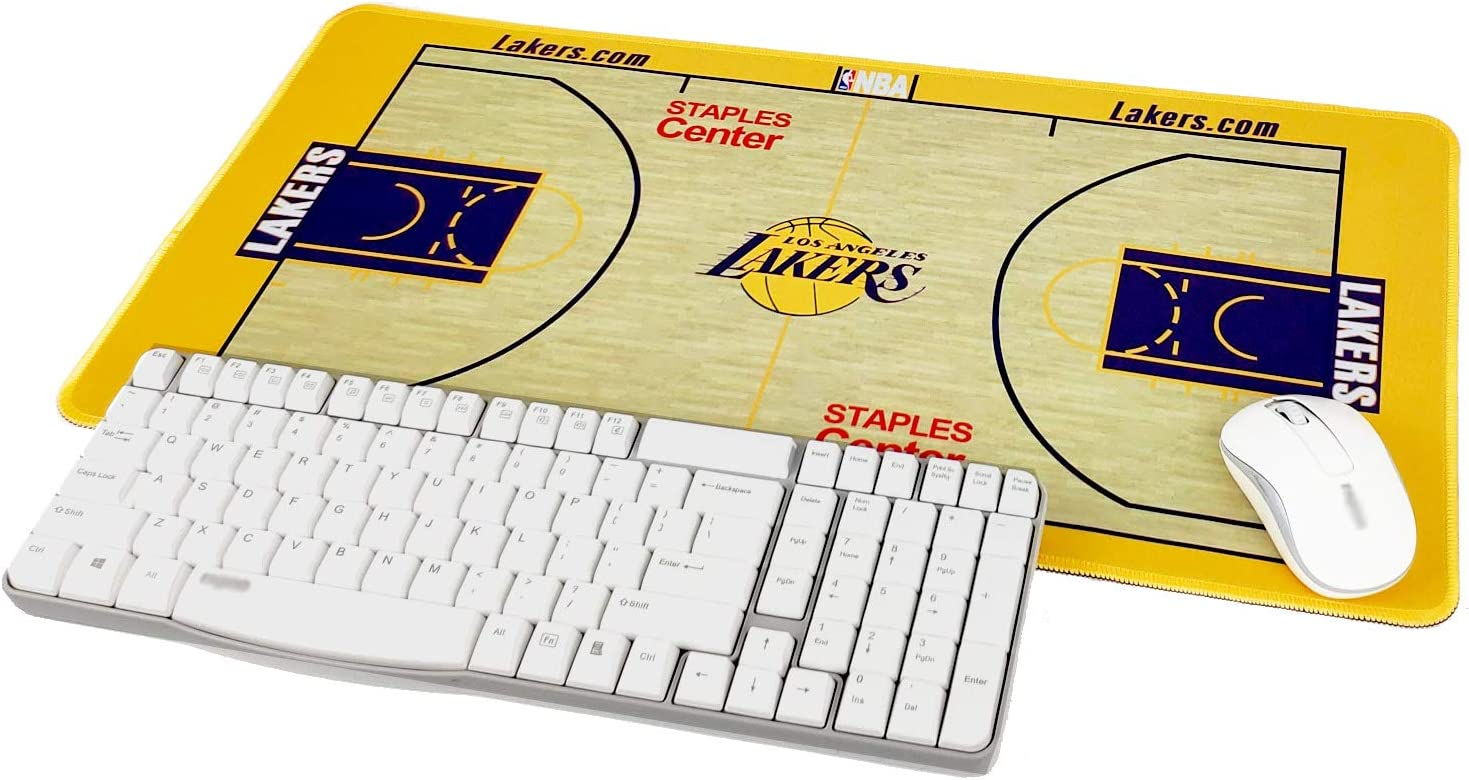 "TRIPRO Basketball Arena Design Large Gaming Mouse Pad XXL Extended Mat Desk Pad Mousepad,Size 23.6""x11.8"",Water-Resistant,Non-Slip Base,for Lakers Fans Gifts"