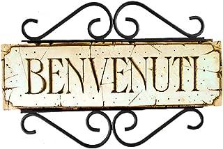 product image for Piazza Pisano Art by Al Pisano Italian Benvenuti Welcome Sign