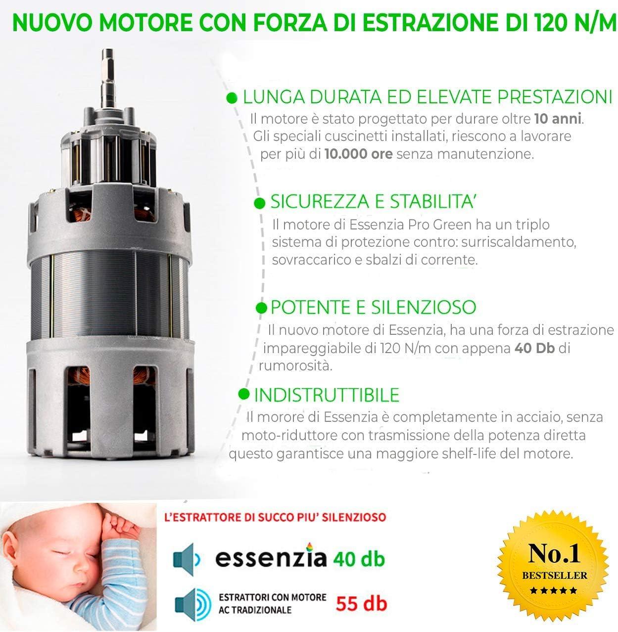 Extractor de zumo en frío Siquri Essenzia Pro Green 32 rpm ...