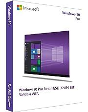 WINDOWS 10 PRO 32/64 BIT - RETAIL - AGGIORNABILE DA HOME - Licenza Elettronica inviata in giornata tramite email Amazon