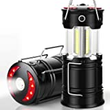 EZORKAS 2 Pack Camping Lanterns, Rechargeable Led Lanterns, Hurricane Lights with Flashlight and Magnet Base for Camping…