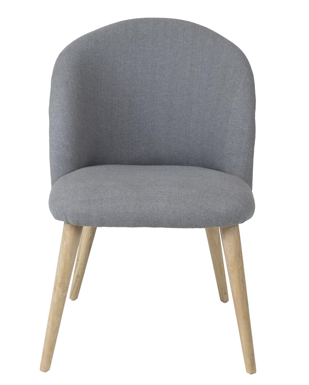 Groovy Amazon Com East At Main Mara Grey Modern Round Cotton Short Links Chair Design For Home Short Linksinfo