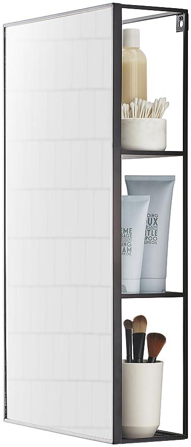 Umbra Cubiko Mirror And Storage Unit, Black