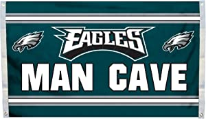 Fremont Die NFL Philadelphia Eagles 3' x 5' Flag with Grommets, 3 x 5-Foot, Man Cave