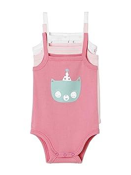 VERTBAUDET Lot de 3 bodies pur coton couleur fines bretelles bébé LOT EAU  DE ROSE 36M 88880fdafa8