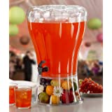 Buddeez Unbreakable 3-1/2-Gallon Beverage Dispenser with Removable Ice-Cone and BONUS Chalkboard ID tag - perfect for parties