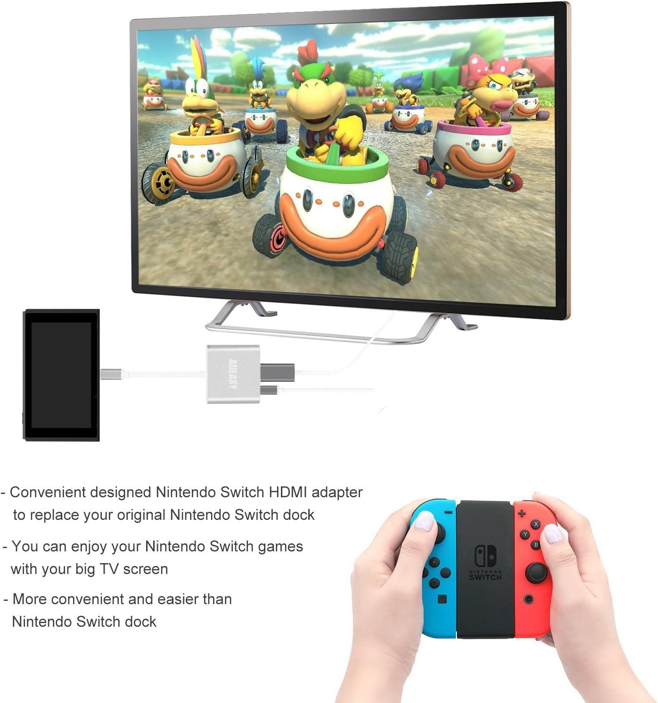Amazon.com: alleasy USB C a adaptador HDMI para Nintendo ...