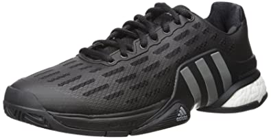 adidas Performance Men s Barricade 2016 Boost Tennis Shoes Black Black Iron  Metallic Grey 9 D(M) US  Buy Online at Low Prices in India - Amazon.in bd2885987b0