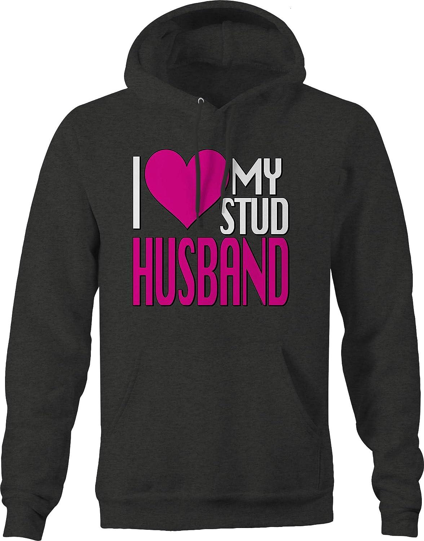 I Love My Stud Husband Compassion Relationship Caring Fun Enjoy Hoodies for Men