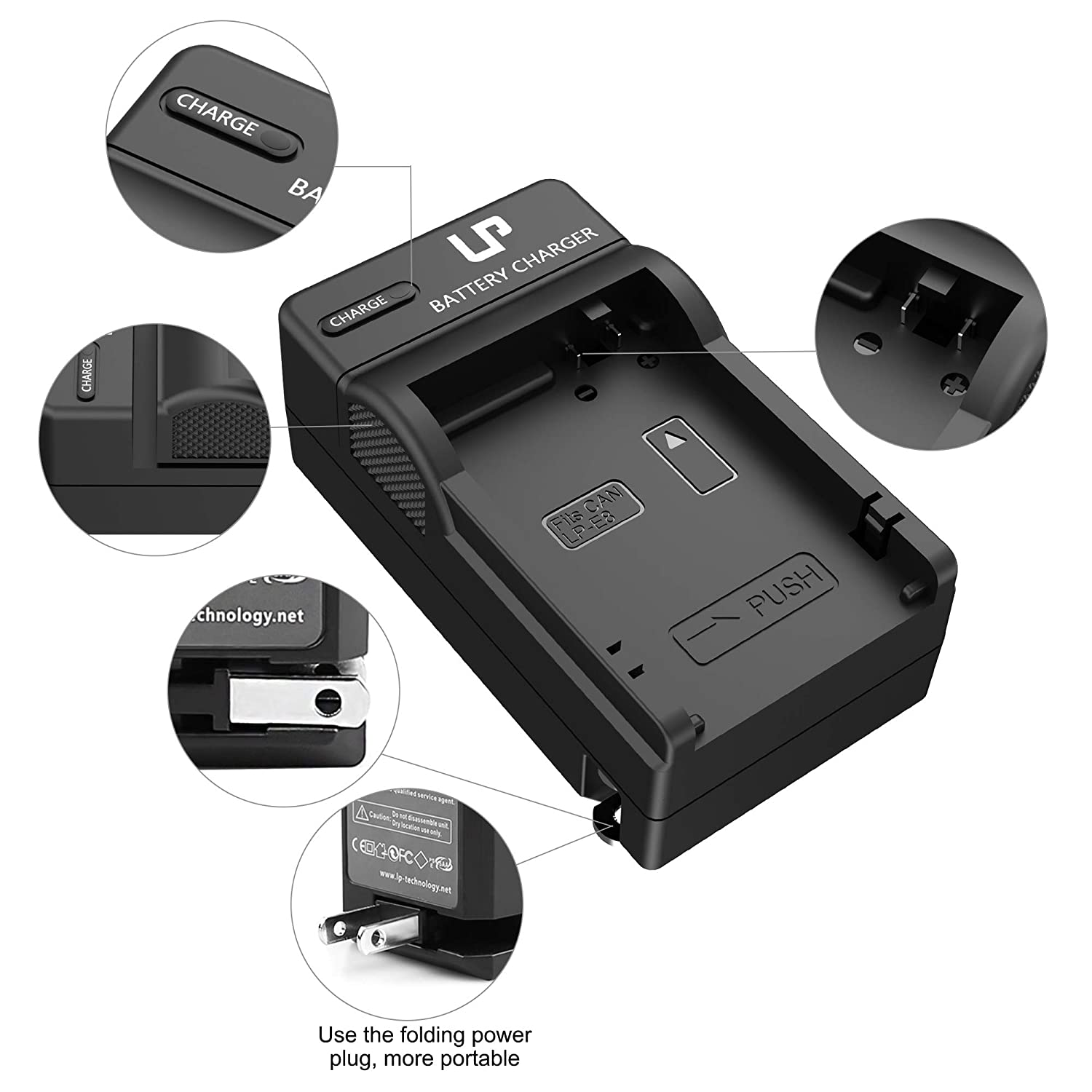 550D LP LP-E8 Battery Charger T3i Not for T2 T3 T4 T5 600D 650D Compatible with Canon EOS Rebel T2i T5i T4i 700D /& More