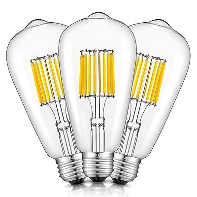 CRLight 10W LED Edison Bulb 2700K Warm White 1000LM