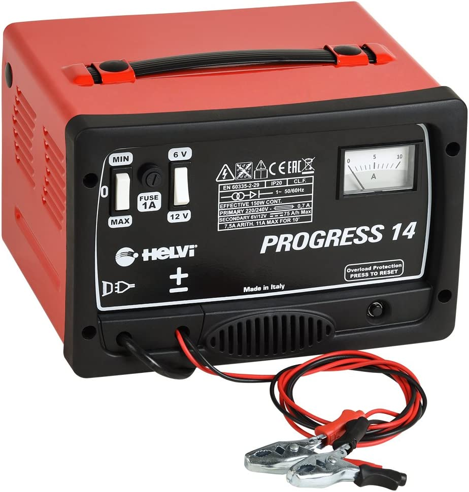 HELVI 99000067Cargador Pilas Progress 146/12V 230V