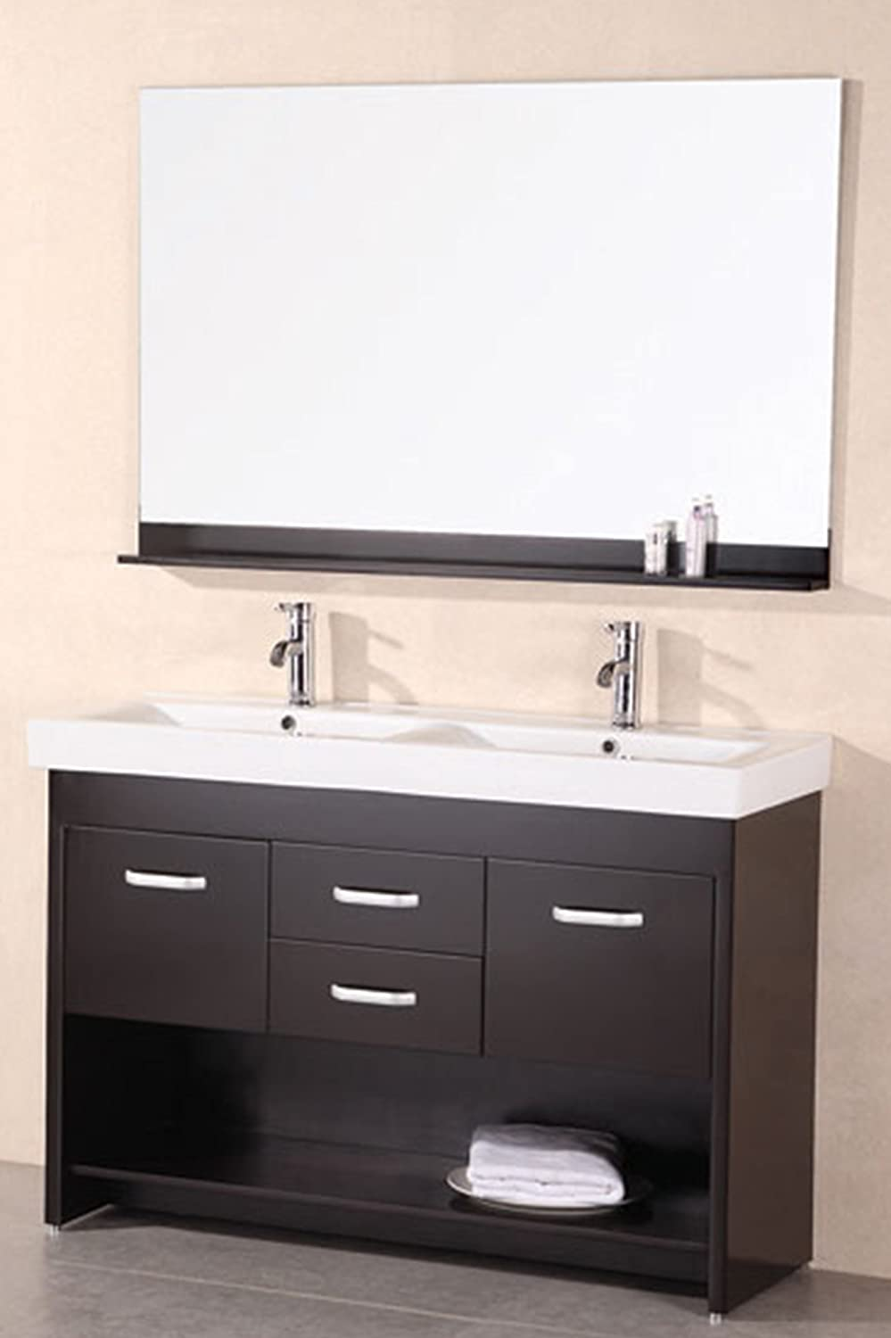 Design Element Citrus Mini Integrated Porcelain Drop-In Double Sink ...