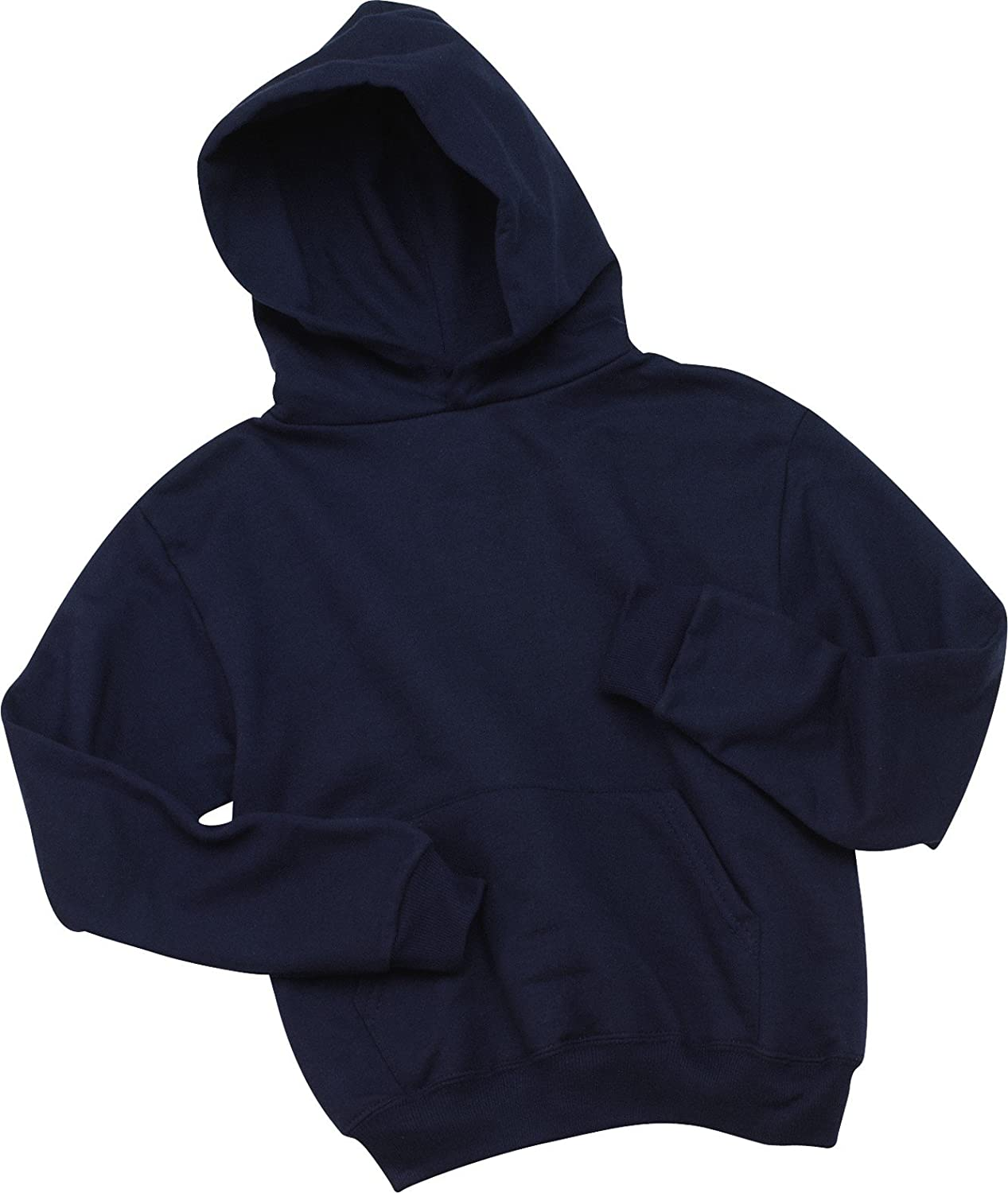 996Y J NAVY Jerzees Youth 8 oz. 50//50 NuBlend Fleece Pullover Hood