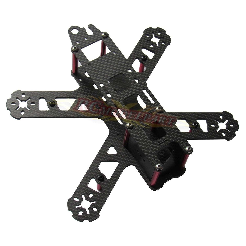 Amazon.com: 3K Carbon Fiber QAV210 Frame Kit V2 Mini FPV Drone ...
