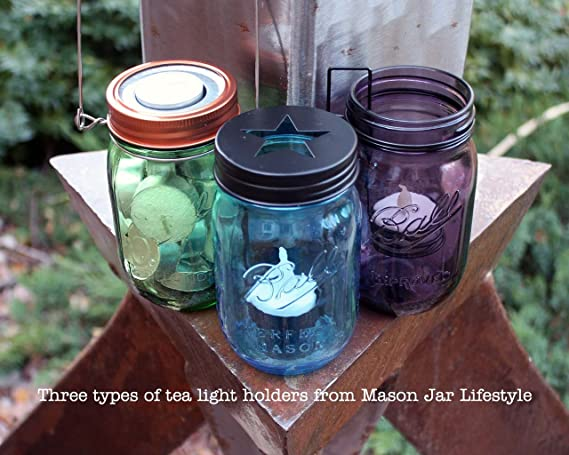 Amazoncom Tea Light Candle Holder Metal Lid Inserts For Regular