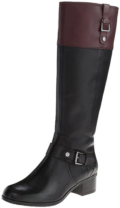 Amazon.com | Bandolino Women's Cranne Wide Calf Leather Riding ...