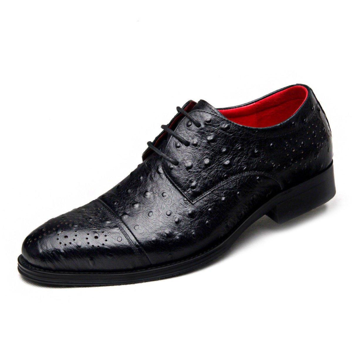 GRRONG Mauml;nner Mode Geschauml;ftsfreizeithose- Vier Jahreszeiten Schuhe Britischen Wind  43|Black