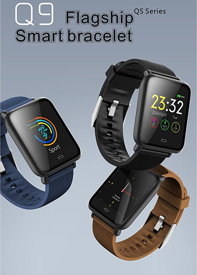 Amazon.com: Walmeck Q9 Smart Bracelet Sport Watch SMA Band ...