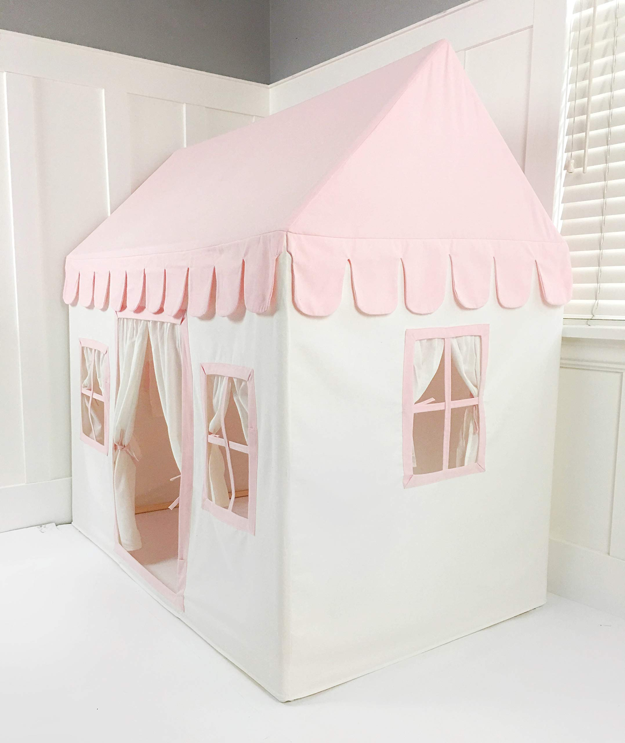Domestic Objects Children's Playhouse. Handmade with 100% Cotton Premium Quality. Pink by Domestic Objects (Image #3)