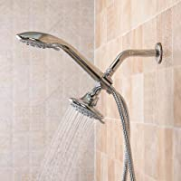 ZXLIADLY TAPCET Dual Shower Head Combo System with 3-Way Rain Shower Diverter Arm Chrome Bring You Everything is The Best