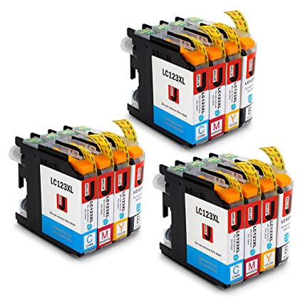 JETSIR LC123XL Alta capacidad Compatible Cartuchos de tinta ...