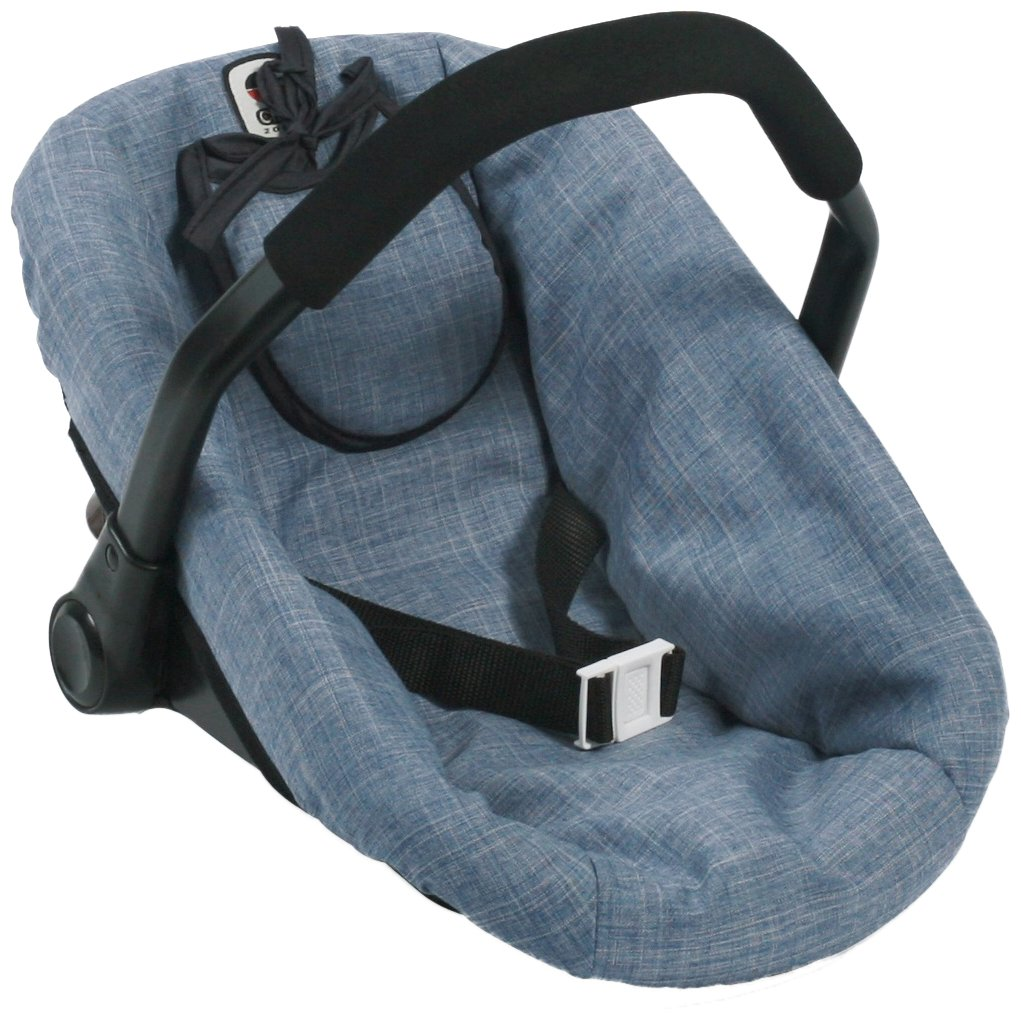 Bayer Chic 200070850Car Seat for Baby Dolls, jeans blue 708 50
