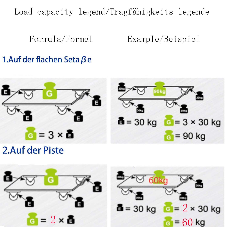 Forever Speed 4 St/ück 160 mm Lenkrollen Transportrollen Rollen M/öbelrollen mit Bremse Laufrollen Schwerlastrollen Transportrolle