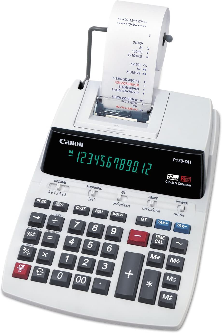 CNMP170DH3 - Canon P170DH3 Two-Color Roller Printing Calculator