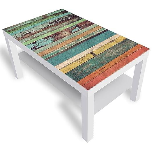 Mesa de Cristal Decorativo IKEA barnizada, Mesa Auxiliar, Mesa de ...