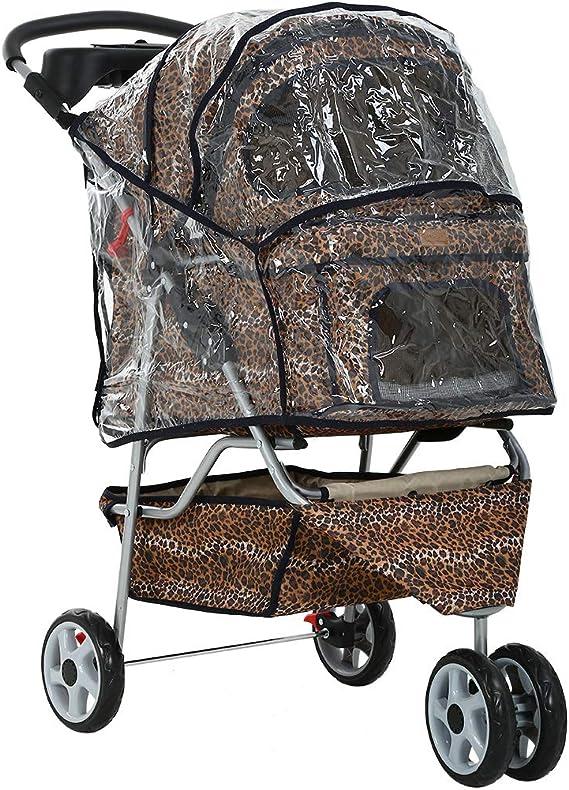 /® Carrito para Mascotas Roadster con Cesta para Guardar Objetos pro.tec Pet Stroller Hundebuggy Azul 73x46x100cm Impermeable para Empujar