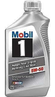 Mobil 1 106035 5W-50 Advanced Full Synthetic Motor Oil - 1 Quart (Pack