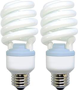 GE Lighting 75413 Reveal Spiral CFL 26-Watt (100-watt replacement) 1570-Lumen T3 Spiral Light Bulb with Medium Base, 2-Pack