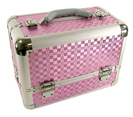 Professional Artist Makeup Train Case Organizer (Pink)