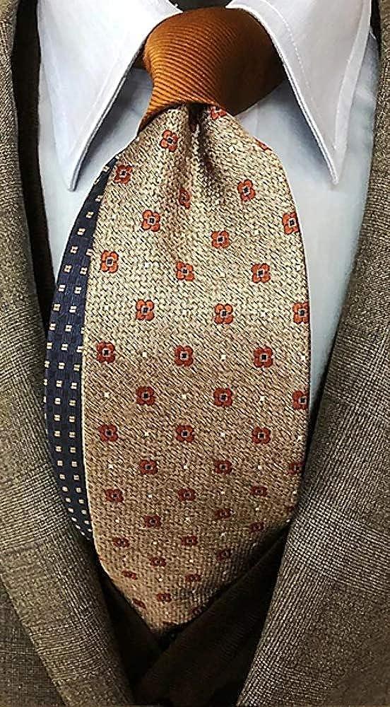 Corbata hombre beige con fantasía marrón pura seda: Amazon.es ...