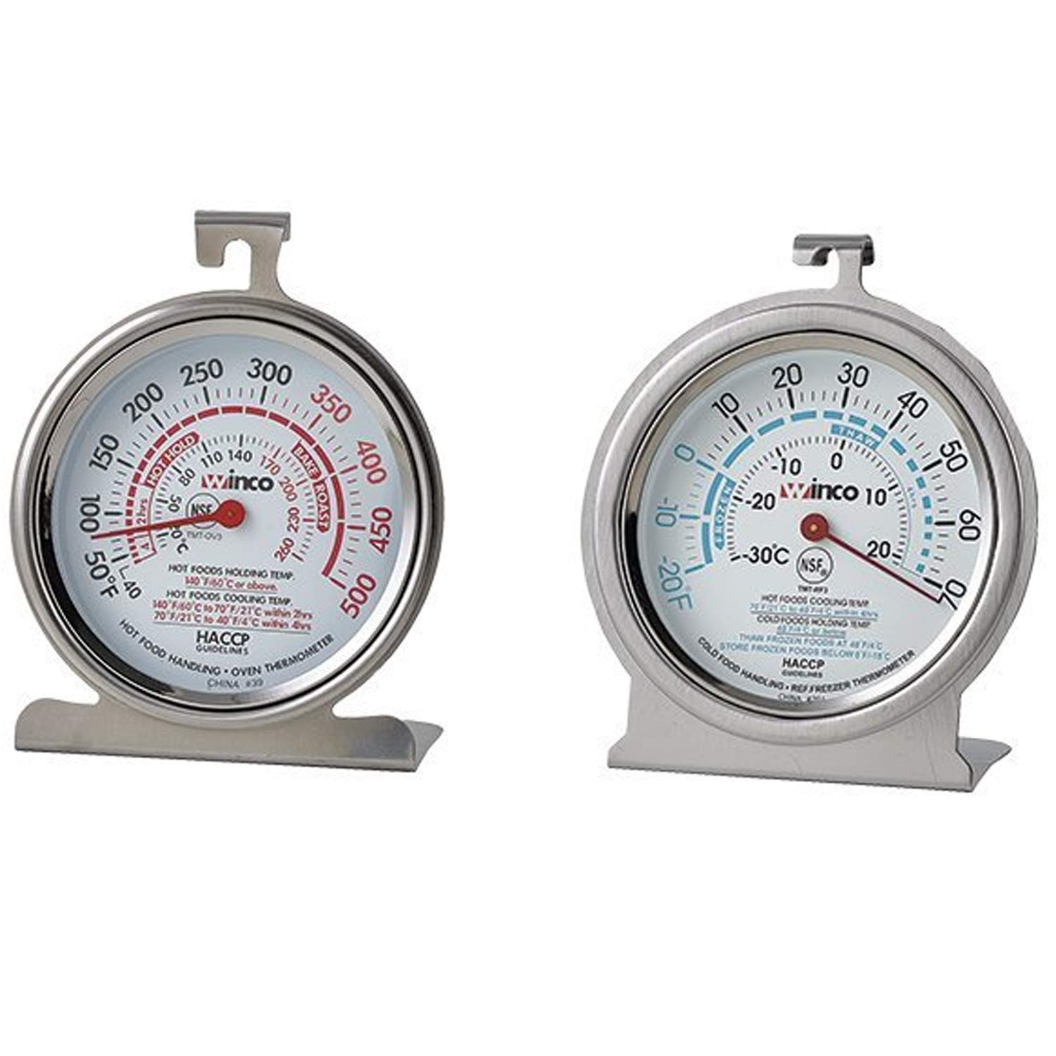 Culinary Depot (1) Oven Thermometer 50 500 Degrees (1) Refrigerator/Freezer thermometer 20 70 Degrees 3'' thermometer