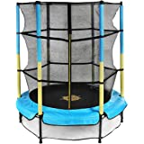 Doufit Trampoline for Kids with Enclosure Net, TR-05 55'' Mini Children Jumping Trampoline for Indoor and Outdoor Exercise, R