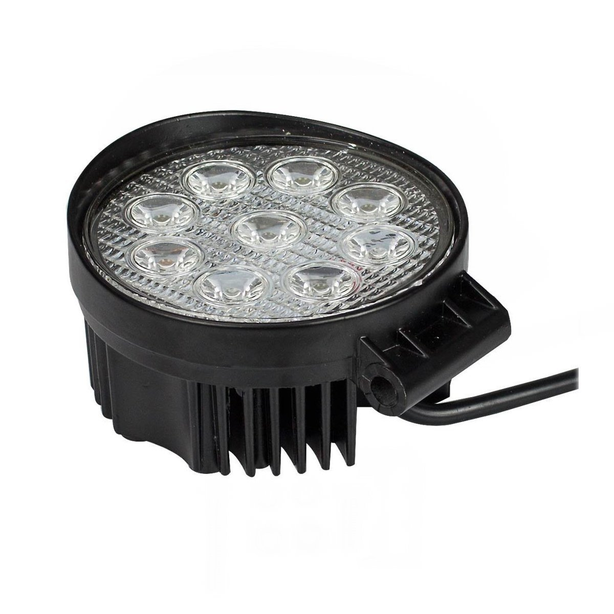 Trattore per auto SUV ATV UTV Fari per fuoristrada Faro anteriore,IP67 Impermeabile 12V 24V Luce retromarcia 2 * 27 W, rotondo SAILUN 2X27W LED Faro da lavoro