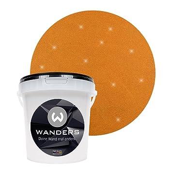 Wanders24 Glimmer Optik (1 Liter, Gold Braun) Glitzer Wandfarbe In