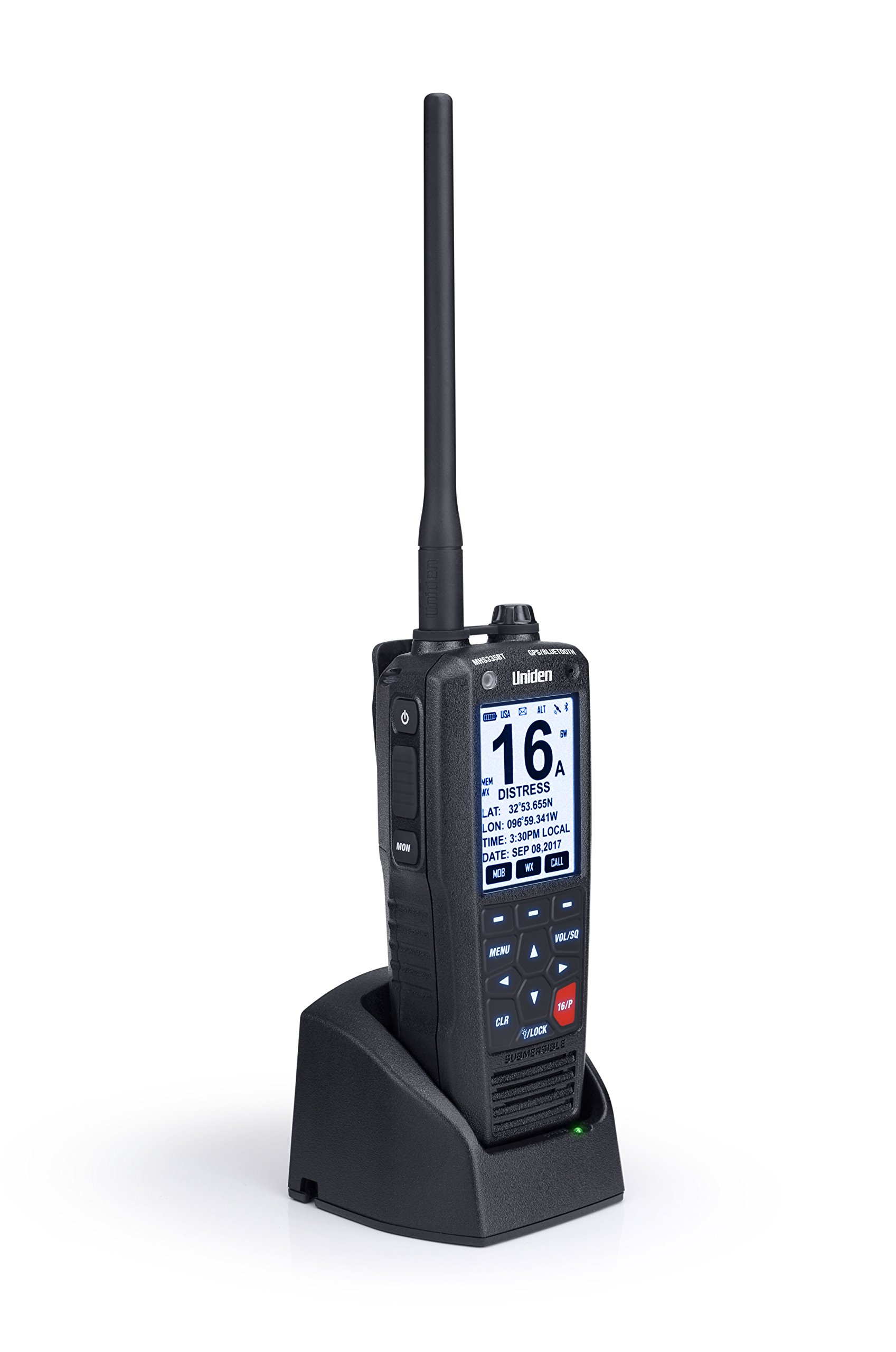 Uniden MHS335BT 6W Class D Floating Handheld VHF Marine Radio with Bluetooth, Text Message Directly to Other VHF Text Message Capable Radios, IPX8 Submersible Design by Uniden (Image #2)