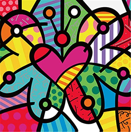 Yeesam Art New Paint By Numbers For Kids Children Beginner Abstract Colorful Butterflies 8x8 Inch Linen Canvas Diy Number Painting Butterfly