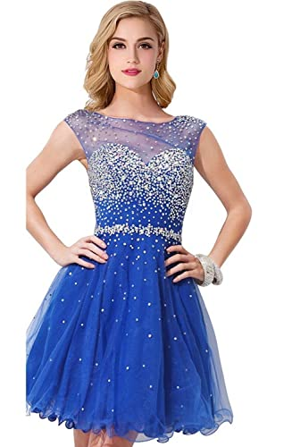 2016 Elegant Short Homecoming Dress Heavily Beaded Cocktail Party Dress