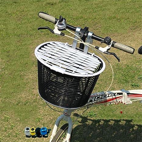 QINAIDI Cesta Delantera de Bicicleta, Gran Capacidad con Tapa ...