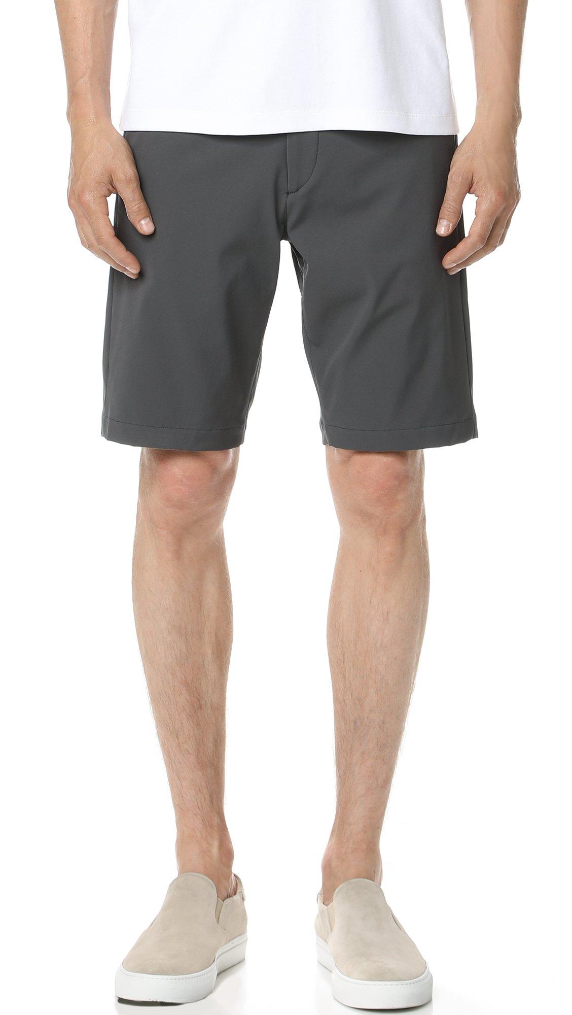 Theory Men's Zaine Neoteric Shorts, Dark Grey, 32