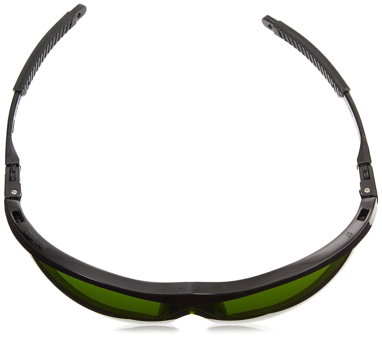d6458b540624 MCR Crews ST1130 Storm Safety Glasses 3.0 IR Green Lens 1 Pair - Green  Safety Glasses Filter - Amazon.com