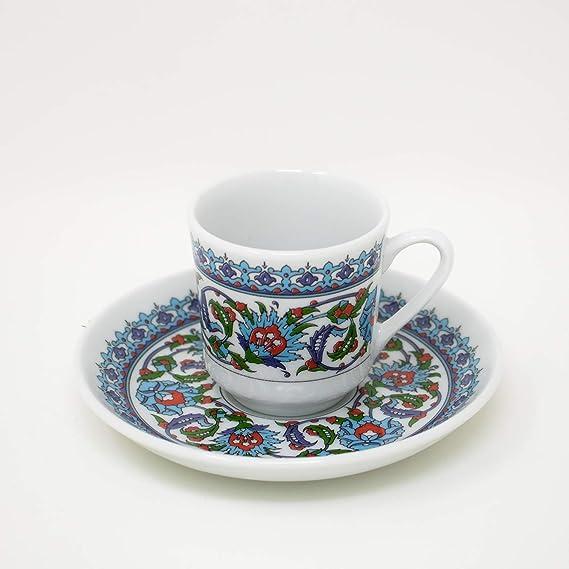 Amazon.com: Turco Taza de café y platillo (6 juegos) 12 ...