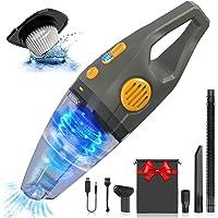 Aspiradora de Mano Sin Cable 8000Pa, Aspirador Coche Potente en Seco y Húmedo 120W…