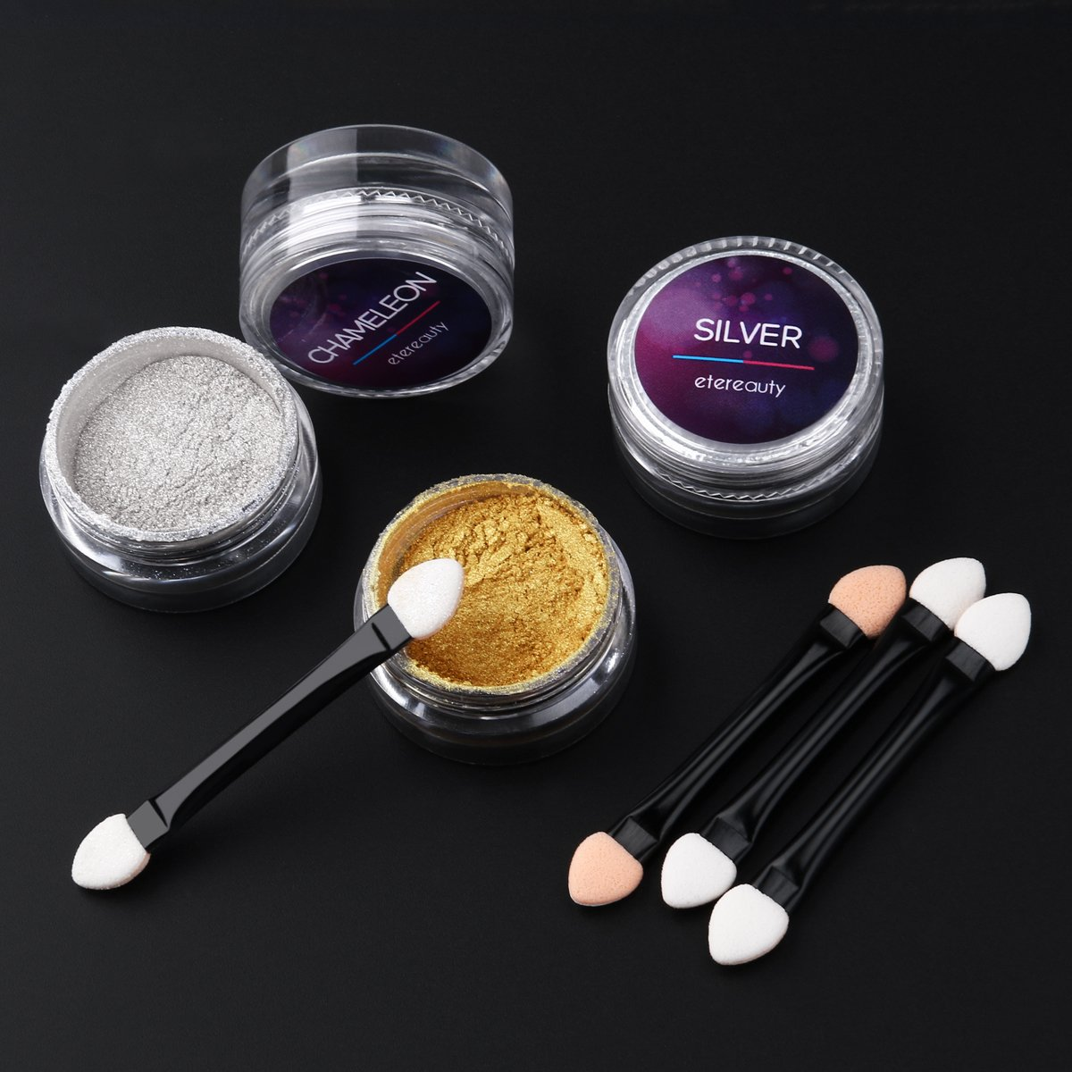 ETEREAUTY Nagel Pulver Spiegel Chrome Nail Powder Glitzerpuder für ...