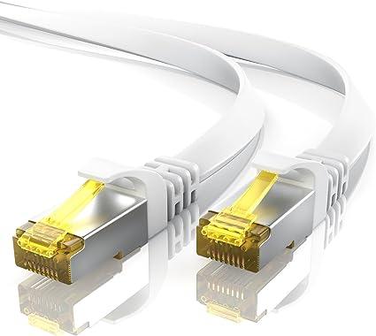 0 5m Cat 7 Netzwerkkabel Flach Ethernet Kabel Elektronik